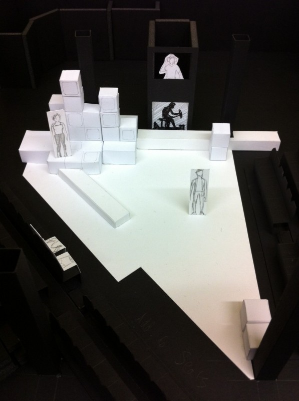 A model rendering of the set for The Tropic of X
