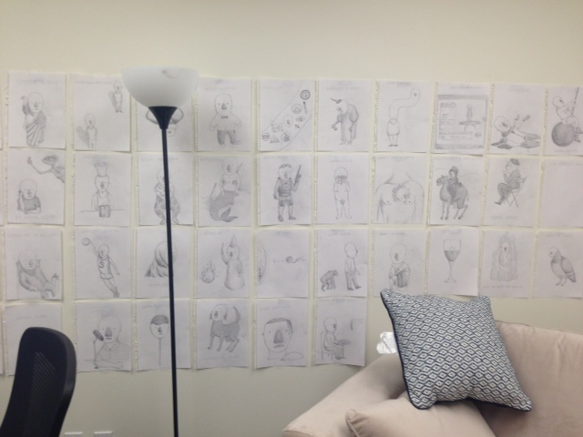 dufault's office wall